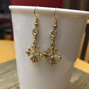 3 for $25 Handmade Gold Flower Earrings